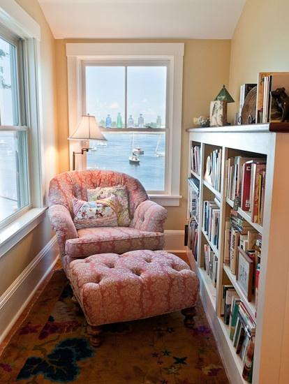 A cozy nook to read sweet mystery cozy novels